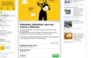 Una captura de la página del concurso